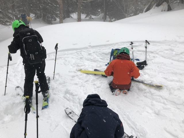 再びシ—ルを付けて熊の湯スキー場まであと少し