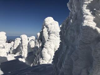 次回はこんな樹氷に出会えいに来て下さい。
