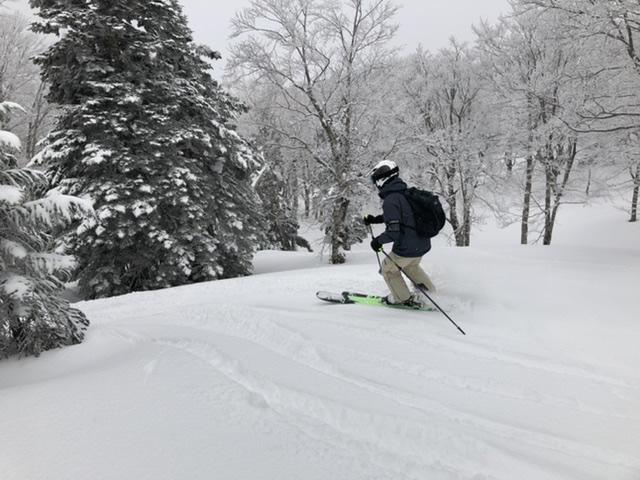 スキーブライドテクニックで安定感抜群です。